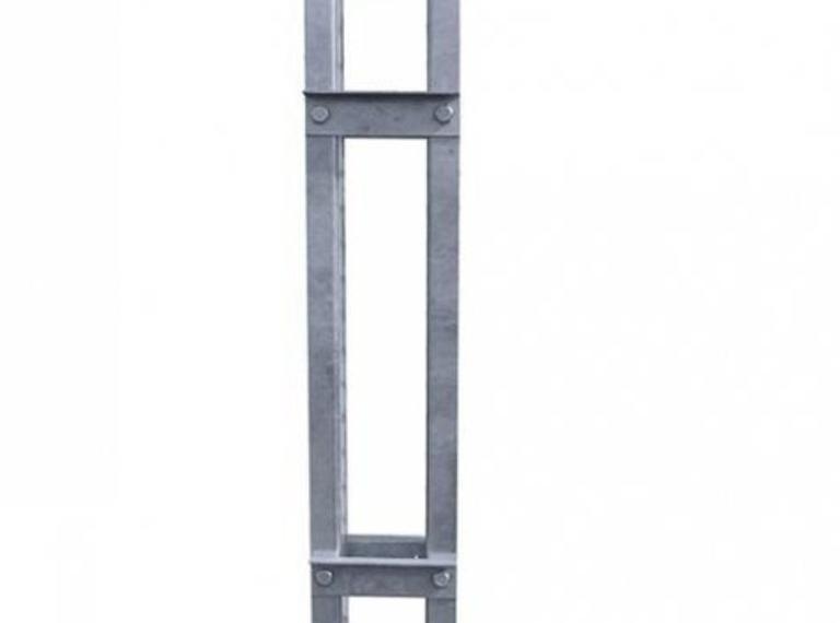 Mastbok thermisch verzinkt staal 120 x 120 mm in ral kleur naar keuze