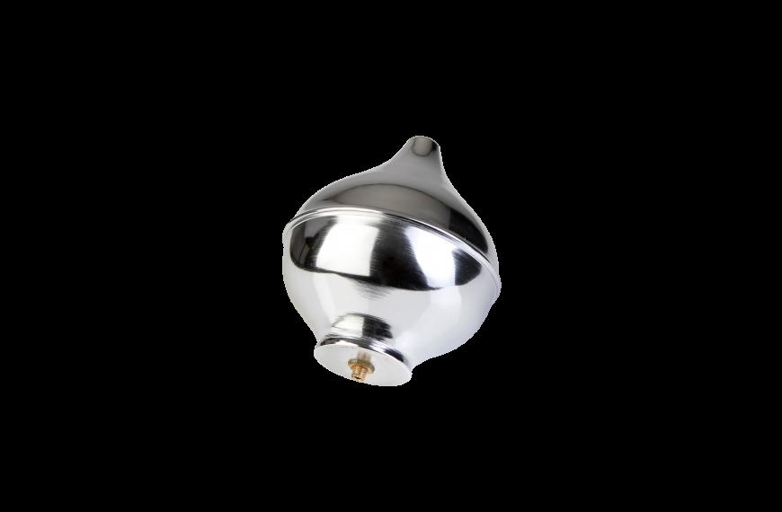 Luxe zilverkleurige sierknop (uitwendig/M10)