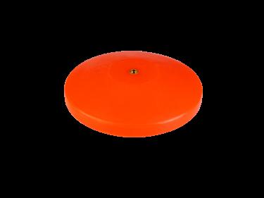 Oranje platte sierknop (inwendig/M8)