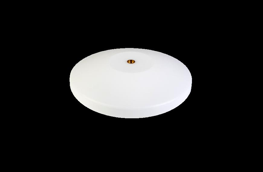Witte platte sierknop (inwendig/M8)