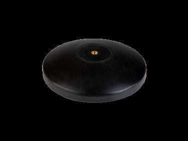 Zwarte platte sierknop (inwendig/M8)