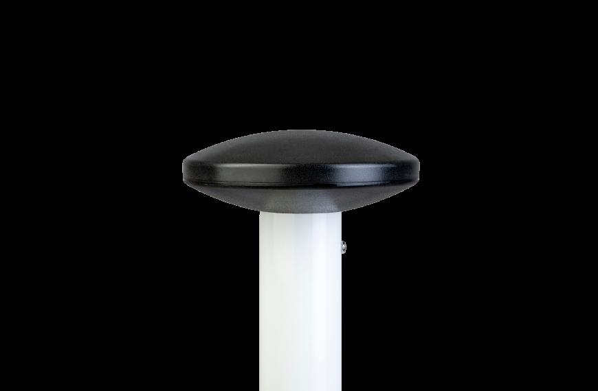 Zwarte platte sierknop (uitwendig/M10)