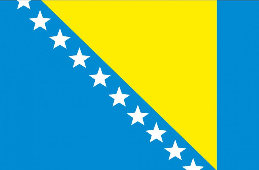 Vlag Bosnië-Herzegovina