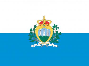 Vlag San Marino (met wapen)
