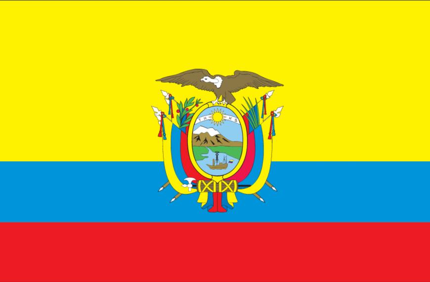 Vlag Ecuador (met wapen)