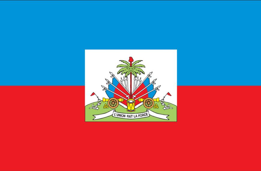 Vlag Haïti (met wapen)