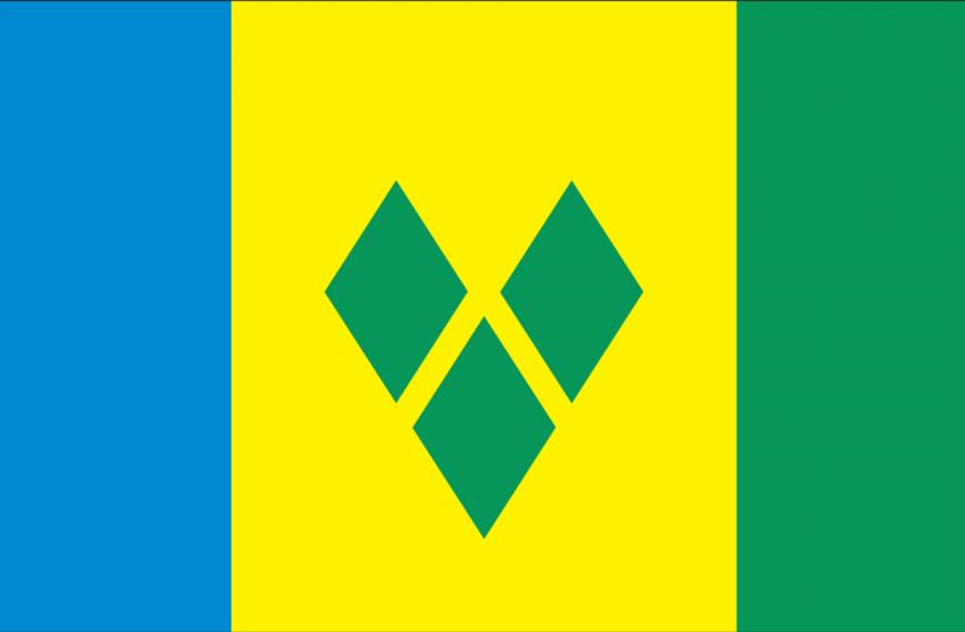 Vlag St. Vincent en the Grenadines