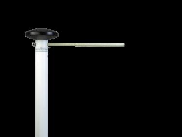 Aluminium telescopische baniermast 2,1 – 5,5 meter