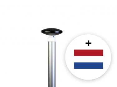 Aluminium cilindrisch 7 meter – 60 mm incl. en grondbuis en gratis NL-vlag