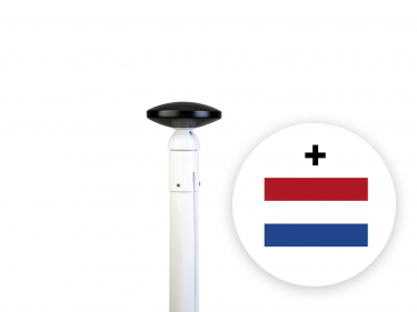 Luxe polyester conische vlaggenmast 6 meter incl. kantelanker, inwendige vlaggenlijn (ISS) en gratis NL-vlag