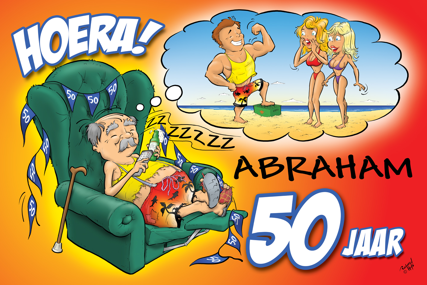 Fonkelnieuw Abraham 50 jaar | Holland Vlaggen ET-02