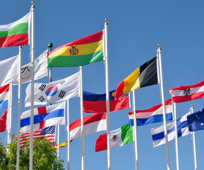 Collectie landen vlaggen