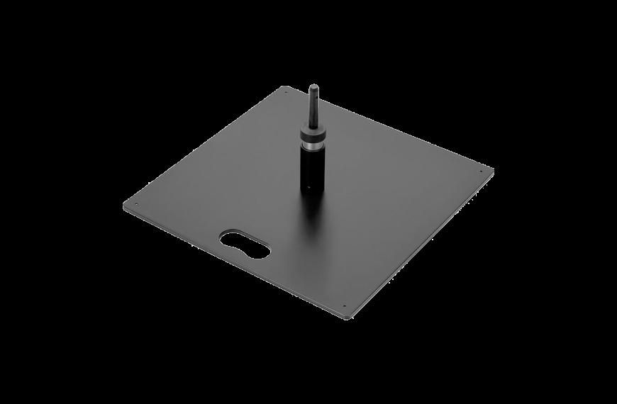 Voetplaat metaal rechthoek (6kg)