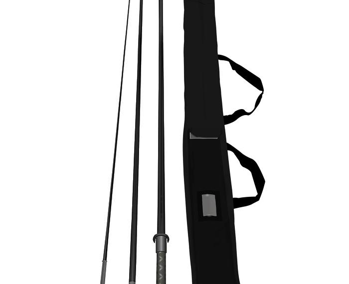 Glasfiber Beachvlag mast inclusief draagtas4 meter
