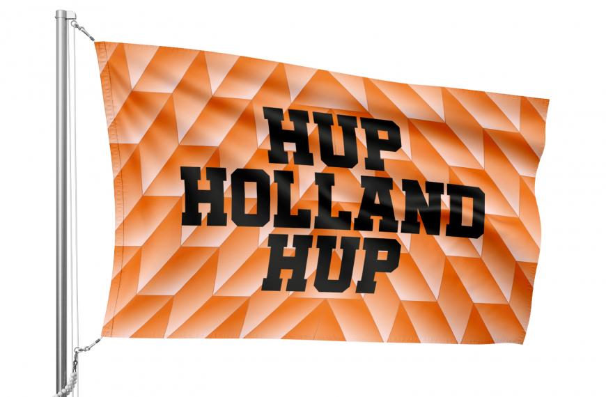 Klassieke oranje Hup Holland Hup vlag