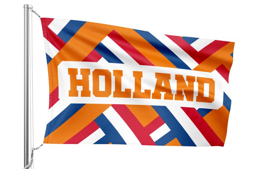 Vlag Holland met oranje motief van Nederlandse kleuren