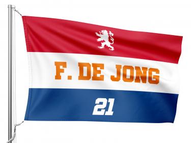 Nederlandse EK vlag met eigen opdruk!