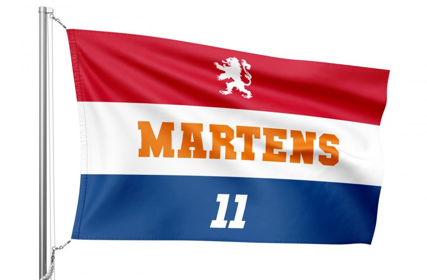 Nederlandse oranje vlag met eigen opdruk!
